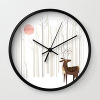 Reindeer Of The Silver W… Wall Clock