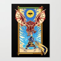 Epic Monster Hunter Canvas Print