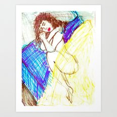 DREAMING OF A VACATION WITH HIM Art Print
