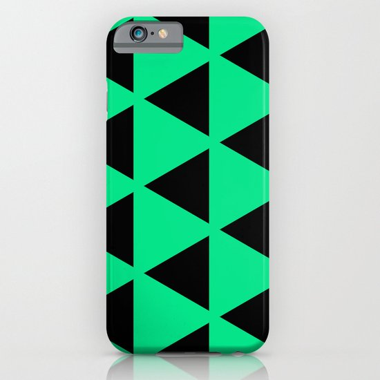Sleyer Black on Green Pattern iPhone & iPod Case
