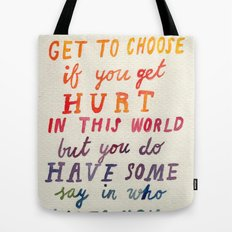 If You Get Hurt Poster Tote Bag