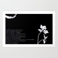 with her bare feet, laughing Art Print
