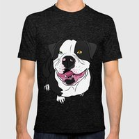Bubba, the American Bulldog Mens Fitted Tee Tri-Black SMALL