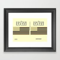 The United States Travel… Framed Art Print