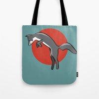 Leaping Fox Tote Bag