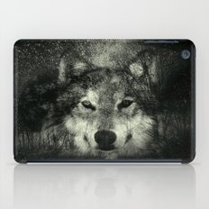 Wolf Black and White iPad Case