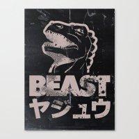 Big In Japan (Black Steel) Canvas Print