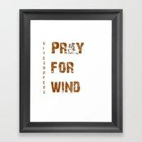 Kitesurfers Pray For Win… Framed Art Print