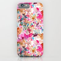 iPhone Cases featuring Local Color (Pink) by Jacqueline Maldonado