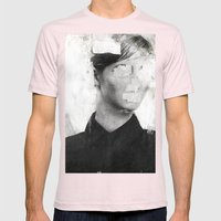 Faceless   number 01 Mens Fitted Tee Light Pink SMALL