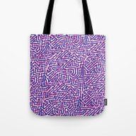 Tote Bag featuring Fluo Pinkblue by Marcelo Romero