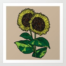Sunflowers Square Art Print