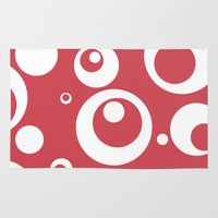 Circles Dots Bubbles :: Berry Blush Rug