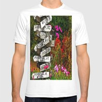 Signpost in the Fall Mens Fitted Tee White SMALL