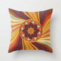 Floral vortex Throw Pillow