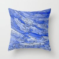 Waves of Life. Throw Pillow