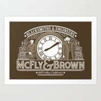 McFly & Brown Blacksmith… Art Print