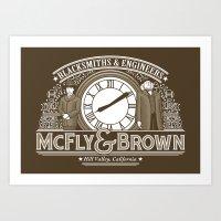 McFly & Brown Blacksmiths Art Print