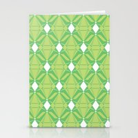 Abstract [GREEN] Emerald… Stationery Cards