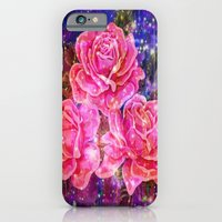 Roses with sparkles and purple infusion iPhone 6 Slim Case