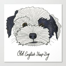 Old English Sheep Dog Canvas Print