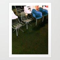 Eames Chairs Art Print