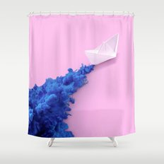 PAPER BOAT INK Shower Curtain
