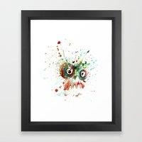 buzzed zombie Framed Art Print