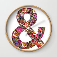 & ampersand print Wall Clock