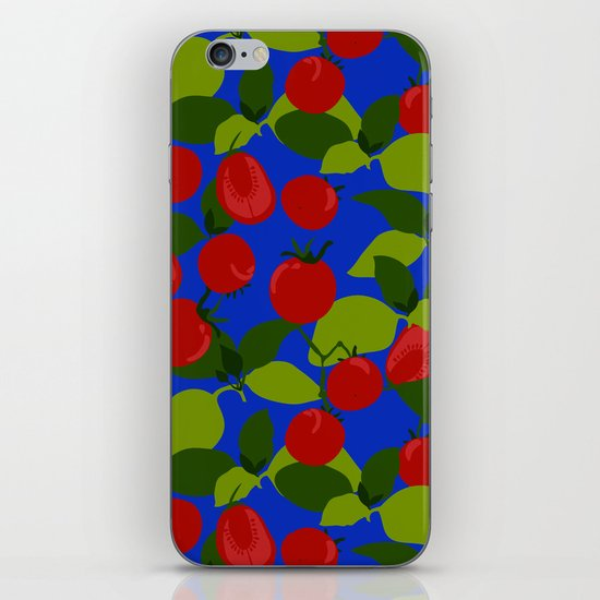 Tomato Basil Pattern iPhone & iPod Skin
