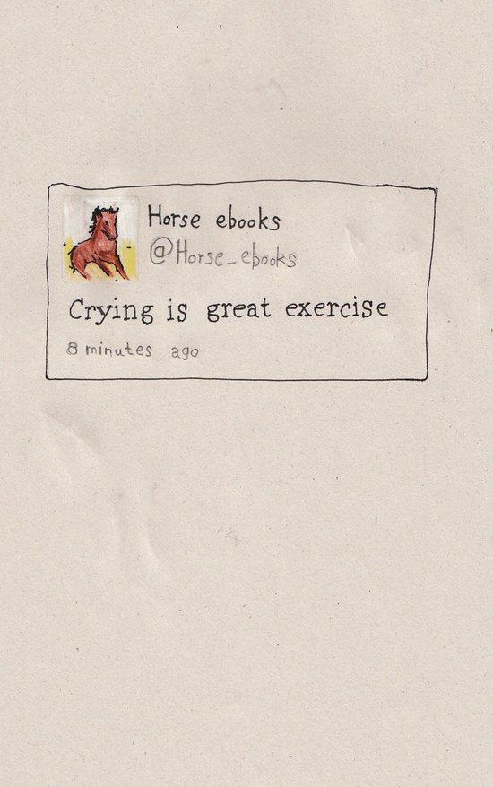 Crying horse ebook Art Print