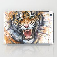Tiger Watercolor Painting iPad Case