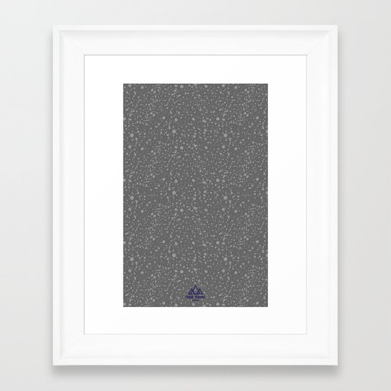 Trail Status / Stone Grey Framed Art Print