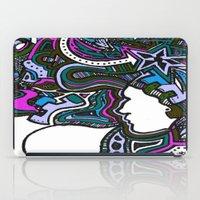 Purple Techno iPad Case