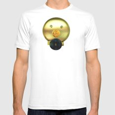 Tea jar smile. SMALL White Mens Fitted Tee