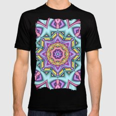 Pastel Floral Fantasy Ka… Mens Fitted Tee Black SMALL