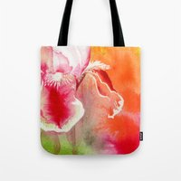 Iris, Magenta, Orange, G… Tote Bag