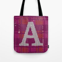 Winter Clothes. Letter A… Tote Bag