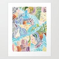 Line Up Art Print