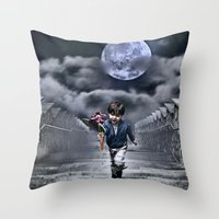 child of the moon Throw Pillow