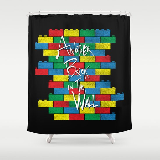 Brick in the Wall Shower Curtain