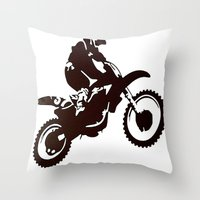 Motor X Silhouette Throw Pillow