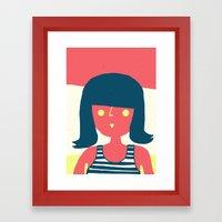 Self-portrait Waiting Fo… Framed Art Print