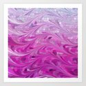 Grape Sea Art Print