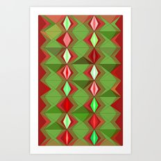 Waterbomb Holiday Colors Art Print