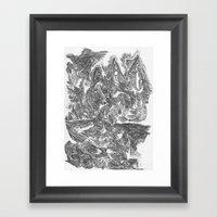 A Horse Runs Up The Moun… Framed Art Print