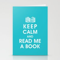 Keep Calm and Read Me A Book Stationery Cards