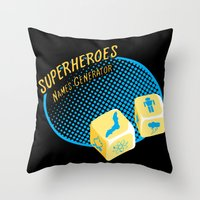 Super-Heroes-Name-Generator Throw Pillow