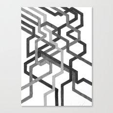 Black and White Metro Canvas Print