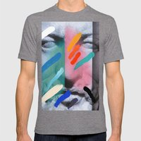 Composition On Panel 6 Mens Fitted Tee Tri-Grey SMALL